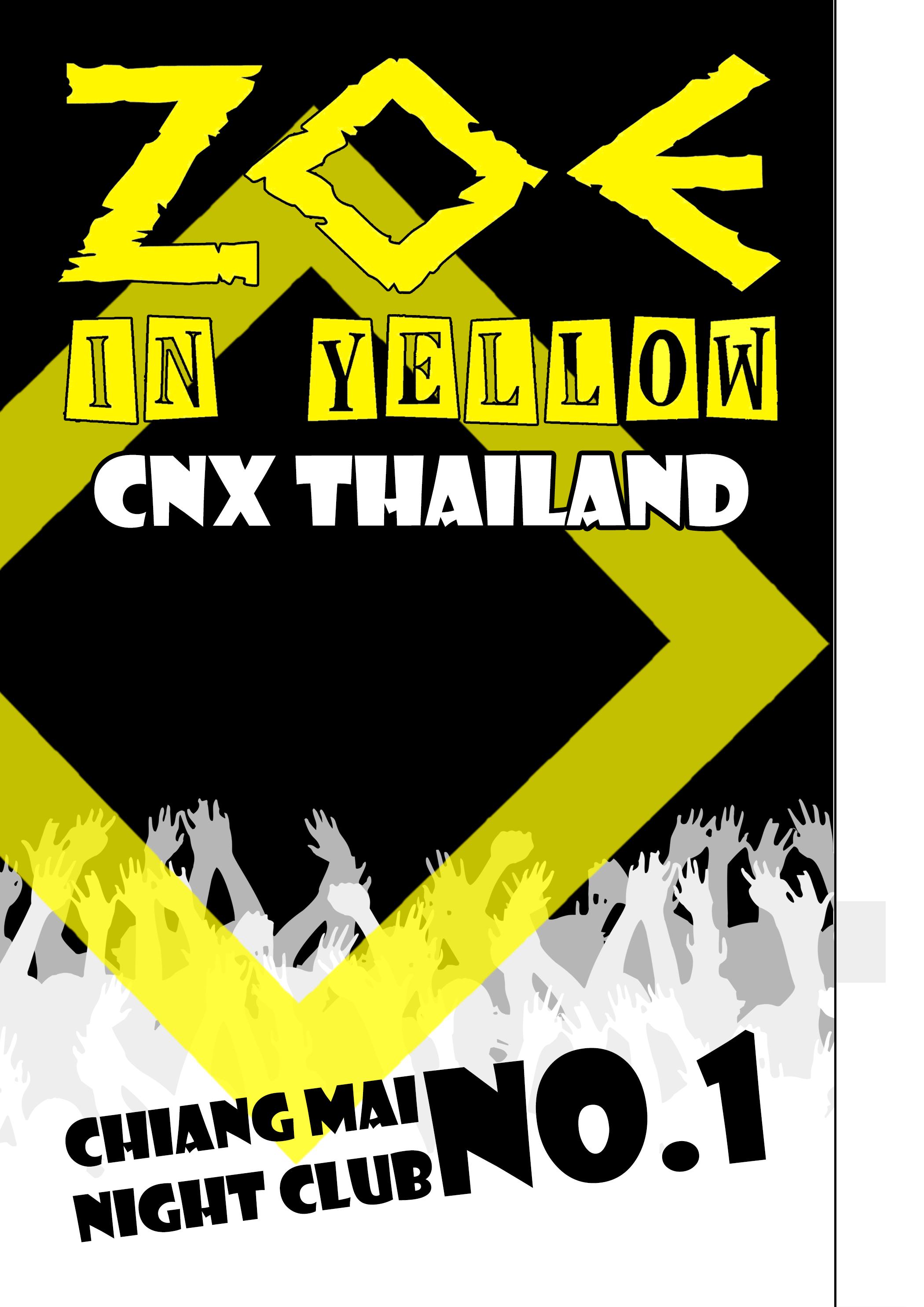 Zoe In Yellow Menu/Chiang Mai/Graphic Design/Stubley Studio